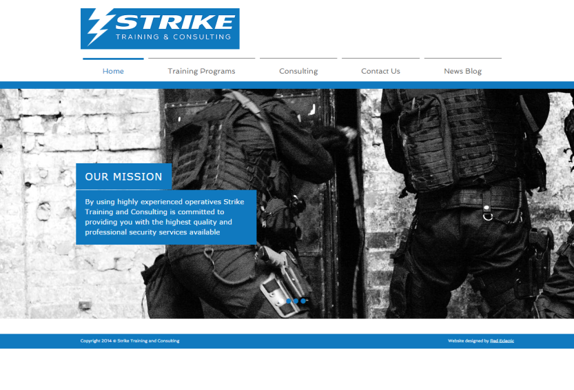 Strike Website Screenshot