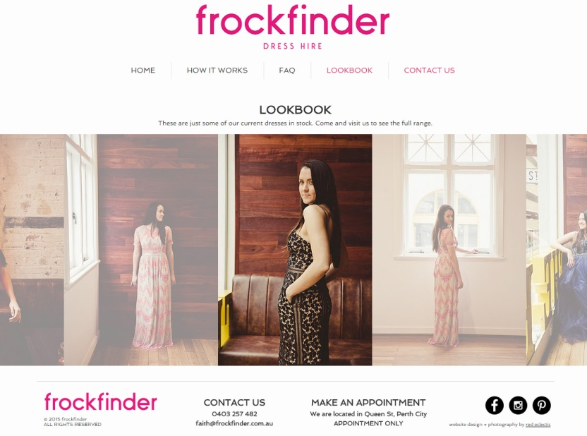 frockfinder website lookbook